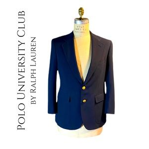 VINTAGE POLO UNIVERSITY CLUB MENS BLAZER